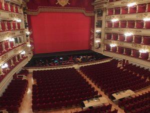 La Scala Source: https://commons.wikimedia.org/wiki/File:Milano,_Teatro_alla_Scala,_interior_01.JPG