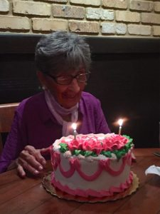 My Mom on her 90th BD - Photo by Margie Miklas
