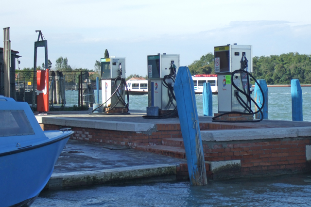 Burano gas pumps Photo by Margie Miklas