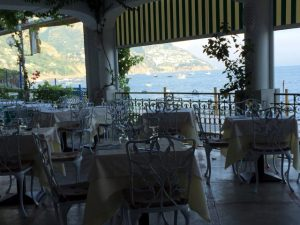 View From the terrace at Hotel Pupetto in Positano Photo by Margie Miklas