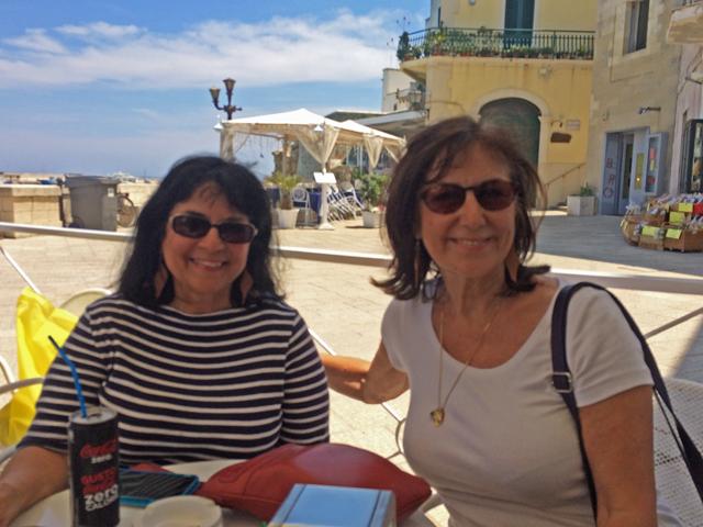 Margie and Victoria in Puglia Photo by Victoria De Maio