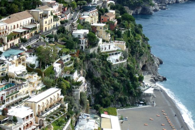 View of Positano beach Photo by Margie Miklas