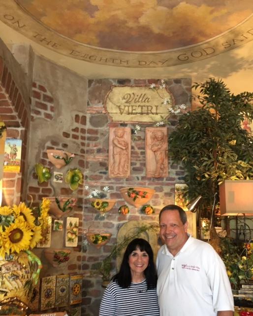 with Pete, La Bella Vita owner Photo by Margie Miklas