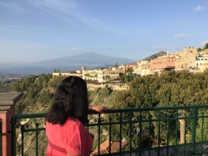 View from Hotel Villa Schuler Photo by Margie Miklasin Taormina