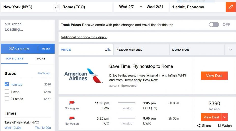 Airfares-to-Italy