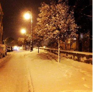 Snow in Mottola Photo by @domenicodelia
