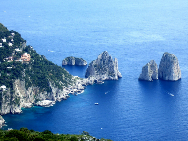 amalfi coast view from monte solaro chairlift in capri margie in