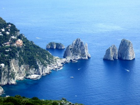 Amalfi Coast - view from Monte Solaro Chairlift in Capri Photo by Margie Miklas