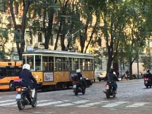 tram in Milan photo by Margie Miklas
