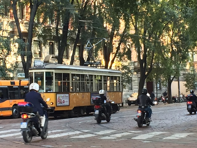 tram in Milan photo by Margie Miklas