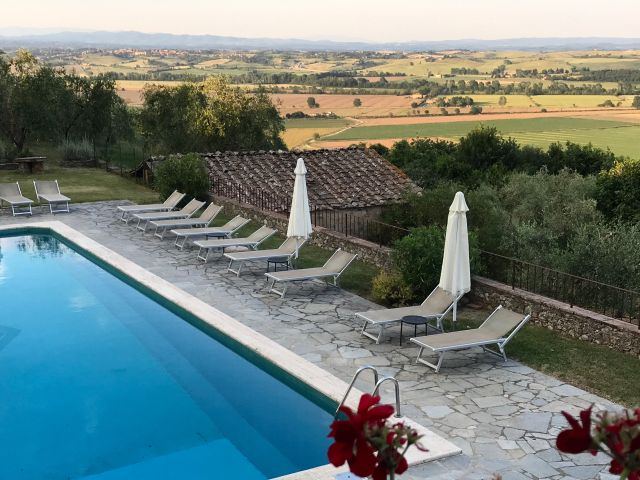 Pool at Montestigliano Photo by Margie Miklas