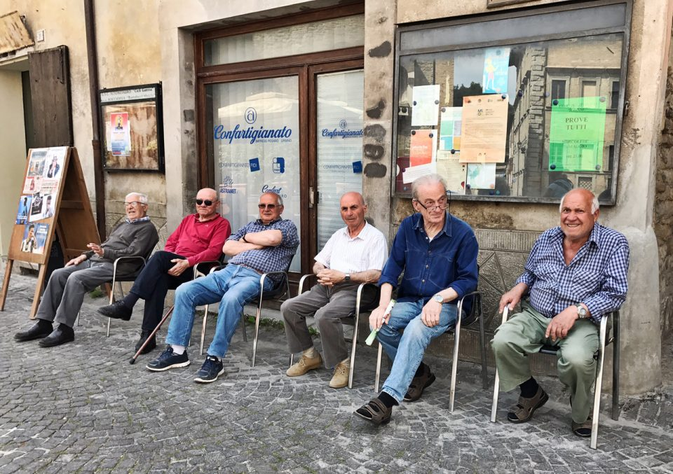 Italian men in Le Marche