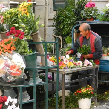 A Flower Vendor in Naples