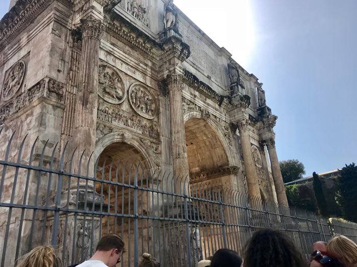 Arch of Constantine in Rome photo by Margie Miklas
