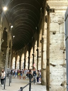Rome Colosseum interior entrance Photo by Margie Miklas