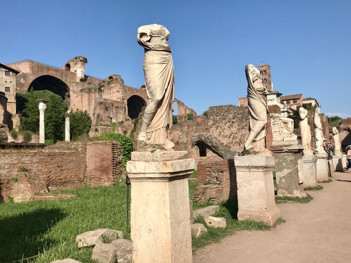 Vestal Virgins in the Roman Forum Photo by Margie Miklas