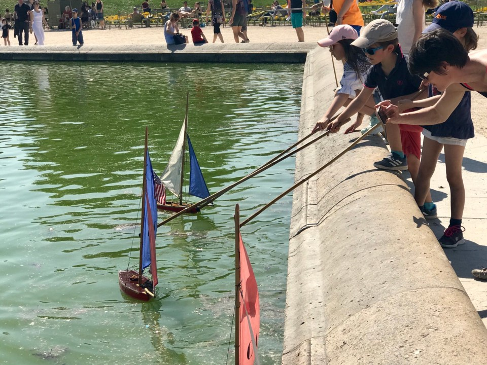 Jardin du Luxembourg in Paris Remote controlled boats photo by Margie Miklas