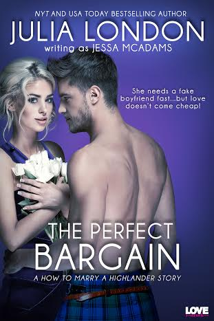 Review & Giveaway! The Perfect Bargain by Julia London as Jessa McAdams