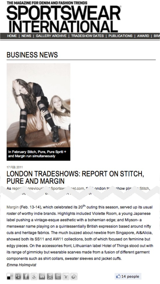 Margin London + Sportswear International