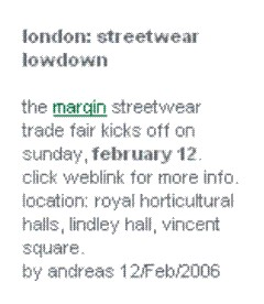 Streetwear Lowdown + The Margin streetwear trade fair kicks off on sunday, february 12.