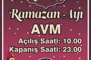 Ramazan Ayı Çalışma Saatlerimiz