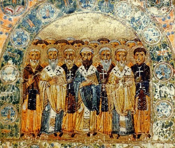 Church Fathers, a miniature from Svyatoslav's Miscellany wikimedia