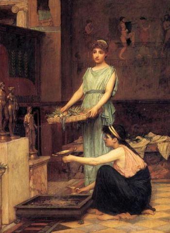 The Household Gods by John William Waterhouse