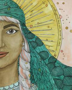 Portrait of Tabitha or Dorcas, a helper of widows. Acts 9