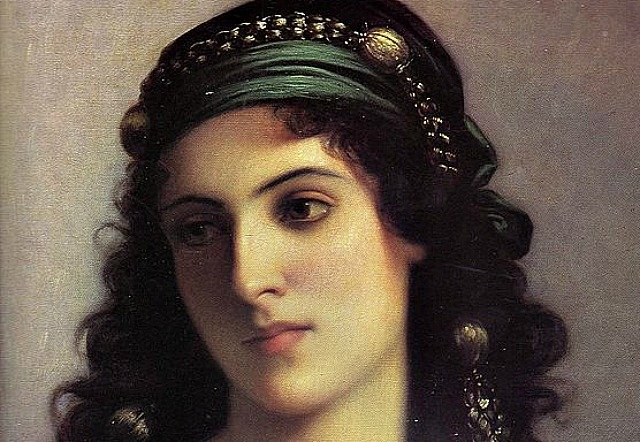 """Extract from """"Jewish Girl in Tangiers"""" by painter Charles Landelle (1874) (Wikimedia Commons)"""