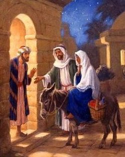 Jesus birth, inn, innkeeper, Bethlehem, Mary and Joseph