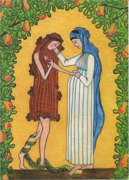 The Virgin Mary Consoles Eve