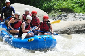 Trying to conquer the rapids!