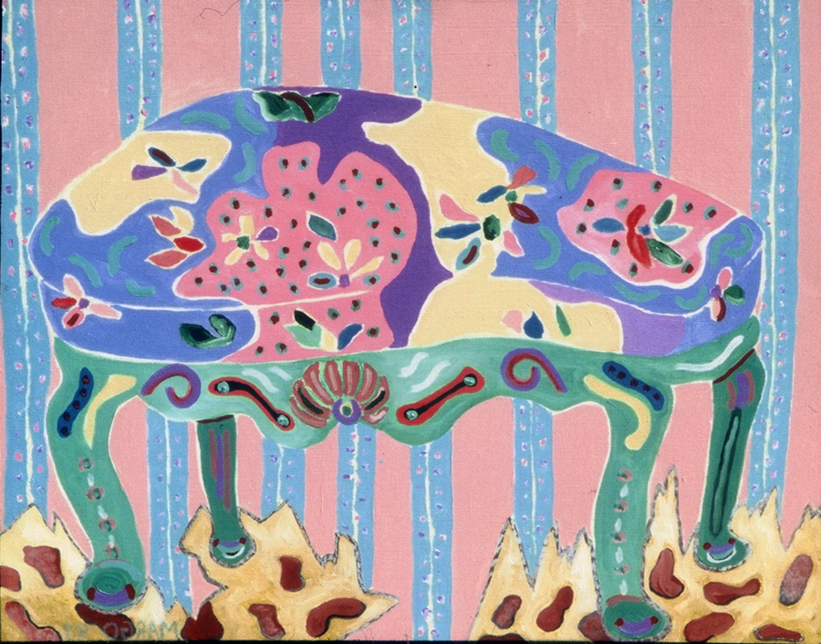 Stool with Rug, 1987