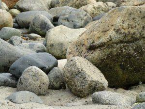 beach rocks close up med