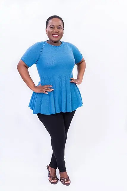Beautiful T-Shirt Knitting Patterns available in Plus Sizes