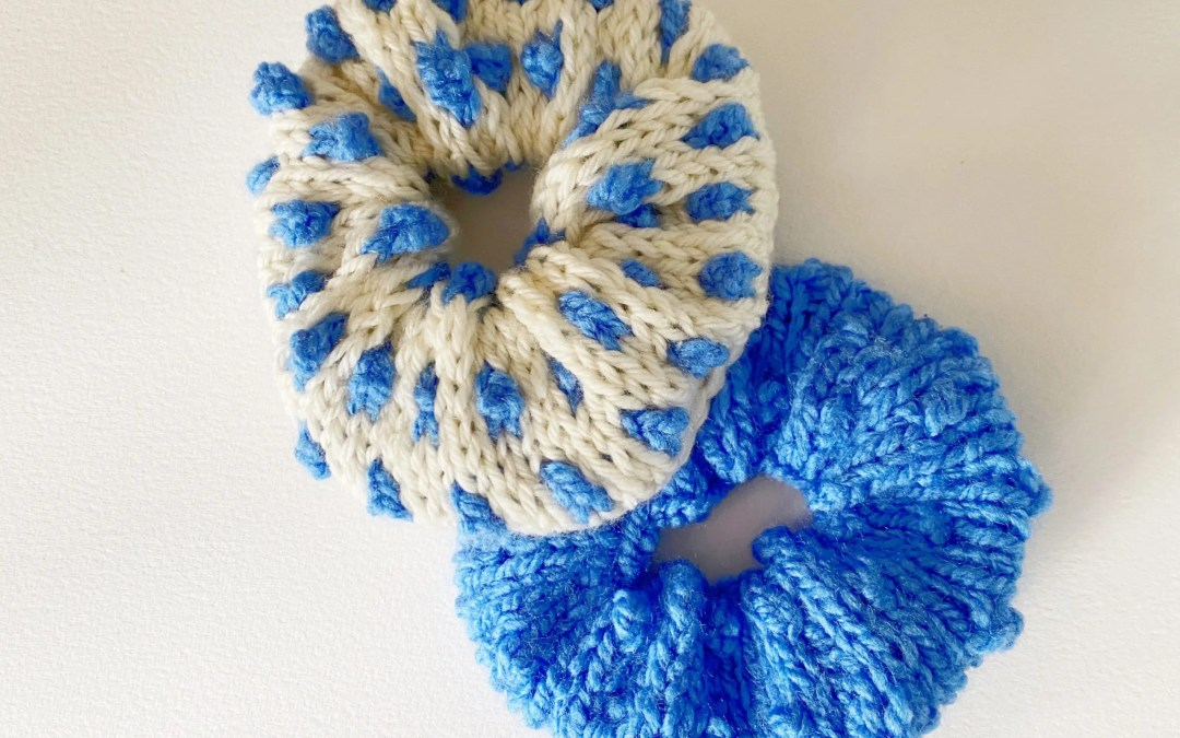 Bobble Scrunchies Knitting Pattern