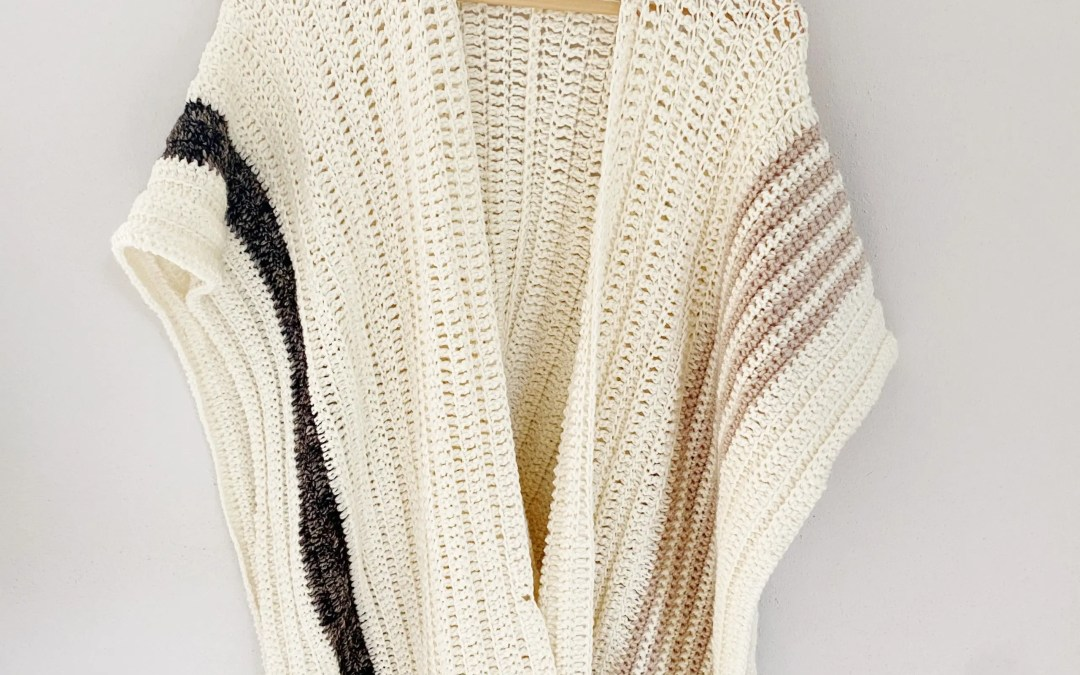 Easy Crochet Blanket Cardigan