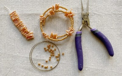 DIY Beaded Bangle Bracelet Tutorial