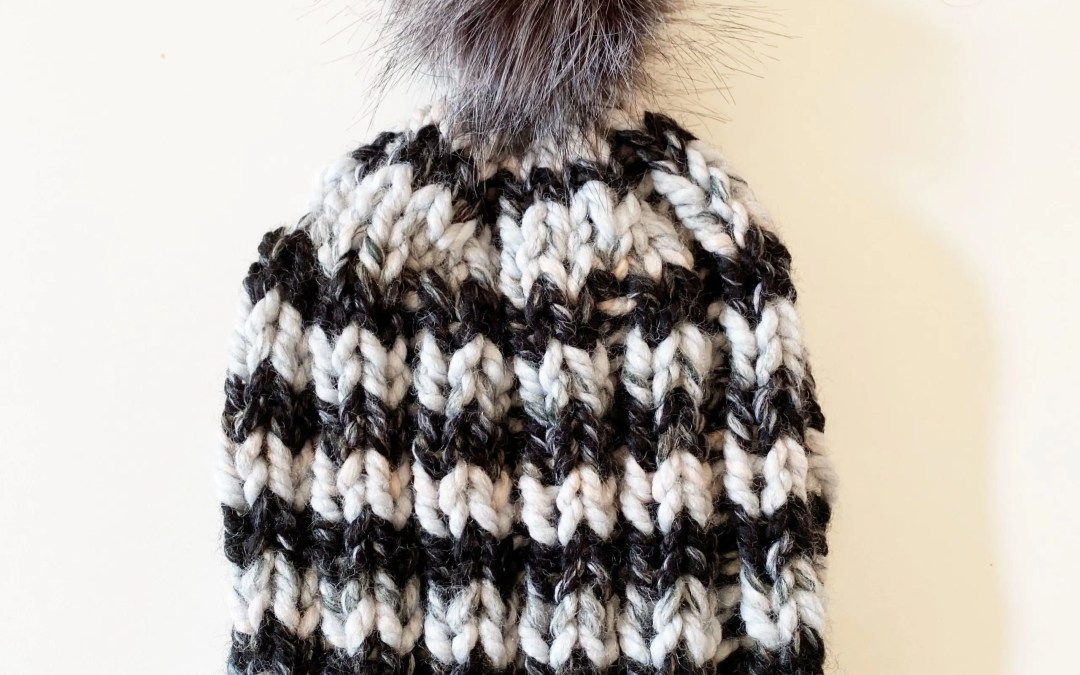 Chunky 2×2 Hat Free Knitting Pattern