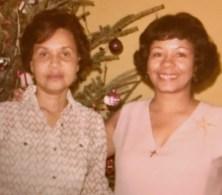 Margaret & Verna Lee circa Xmas 1968