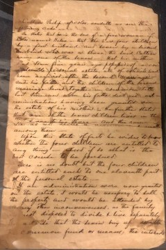 Jonathan Worth Letter page 1