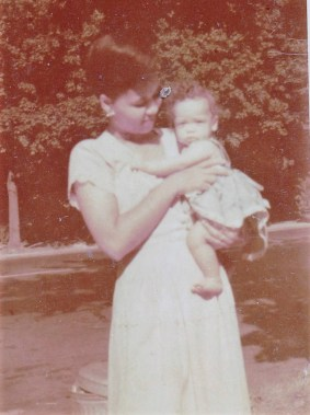 Mommy & me on Ditmars-Spring 1948-b