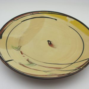 yellow Terracotta plate by Victoria Christen