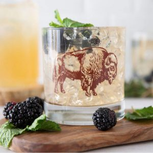 Bison Rocks Glass by Counter Couture