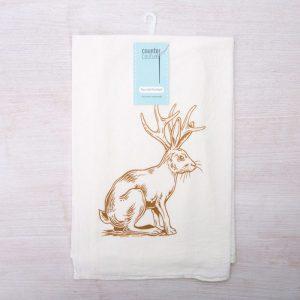 Jackalope Flour-Sack Tea Towel by Counter Couture