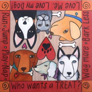 What's Your Trick? Dog Treat Box by Sincerely Sticks