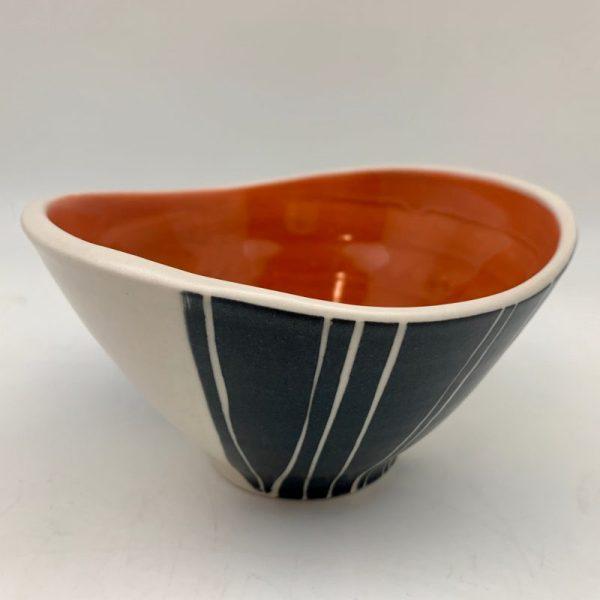 Rita Vali Grass Swoop Bowl - Orange