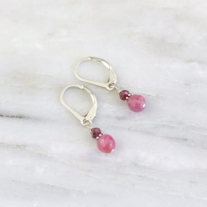 Little Stacked Ruby Earrings Sarah Deangelo