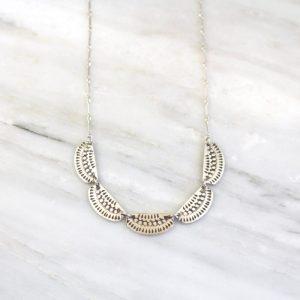 Asmi 5 Collar Silver Necklace Sarah Deangelo
