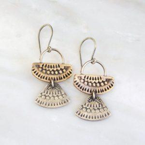 Asmi Mixed Duo Earrings Sarah Deangelo